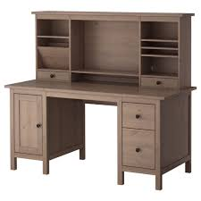 hemnes desk with add on unit white stain