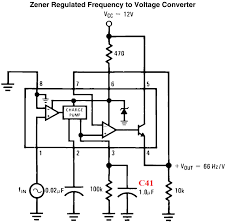 vf fv converter frequency to voltage convertor lm example circuit in its datasheet