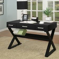 Sleek Black Home Office Desk