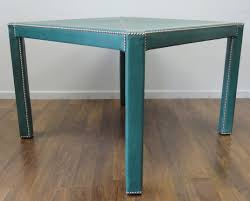Nailhead Coffee Table Turquoise Leather Game Table Mecox Gardens