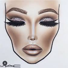 Face Chart Eyes Closed Bridal Face Chart Face Templates For