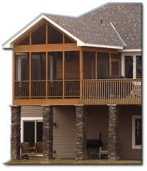 screened in deck decks and porches