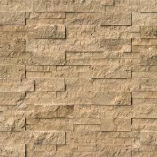 cordoba noche split face ledger panel 6 in x 24 in natural travertine wall tile