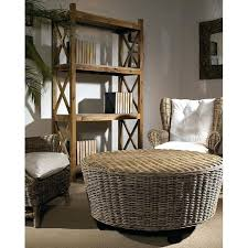 nice round wicker ottoman coffee table incredible rattan for 8 washed storage