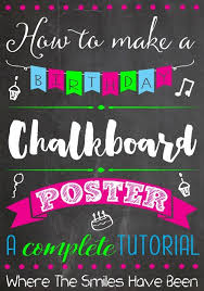 With this excellent book by tristan gooley, you can learn how to interpret nature's most important, strange and fascinating clues. How To Make A Birthday Chalkboard Poster