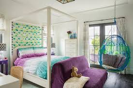 blue hanging chairs for bedrooms. Blue And Purple Girl Bedroom With Anthropologie Knotted Melati Hanging Chair Chairs For Bedrooms G