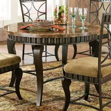 steve silver hamlyn round dining table w marble top metal base