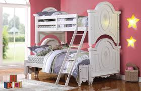 bunk bed with stairs for girls. Decorating Dazzling Girls Princess Bunk Beds 21 Twin Over Full Bed For In White Xiorex With Stairs