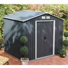 6x4 more anthracite metal shed