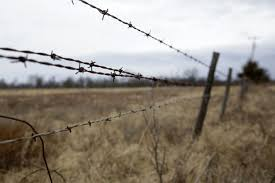 a barbed wire fence on north peoria avenue between 96th street north and 86th street north mike simons tulsa world