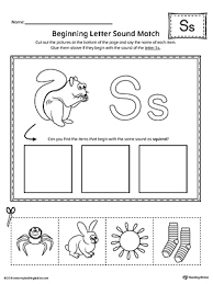 Phonics worksheets for kids including short vowel sounds and long vowel sounds for preschool and kindergarden. Letter S Words And Pictures Printable Cards Sun Spaceship Socks Star Myteachingstation Com