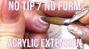 how to extend the nail bed without a form or a tip nail hack