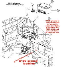 weird electrical problem 2006 chrysler town and country 2006 caravan battery tray zps018a1158