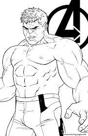 Coloring pages for avengers (superheroes) ➜ tons of free drawings to color. Avengers Endgame The Hulk Coloring Pages Printable