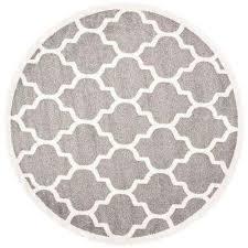 amherst dark gray beige 5 ft x 5 ft indoor outdoor round