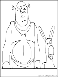 Small Picture Shrek Coloring Pages Free Printable Colouring Pages for kids to