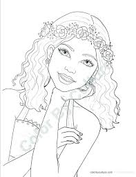 Girl Coloring Pages Teenage Teen