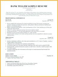 Sample Resume For A Bank Teller Resume For Bank Teller Bank Teller Sample Resume Bank Teller