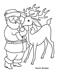Christmas Coloring Pages With Reindeer Creativeinfotechinfo