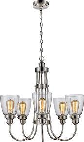 trans globe 70837 bn jennifer contemporary brushed nickel chandelier light loading zoom