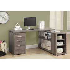 desk awesome left corner desk manufacture wood consteruction gray oak laminate finish 2 small drawer and attractive wooden office desk
