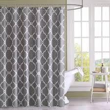 enchanting grey bathroom shower curtain design