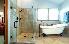 clawfoot shower enclosure large tubs claw foot tub enclosures bathroom designs glamorous corner