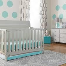 Nursery Decors & Furnitures Grey Nursery With Black Furniture In