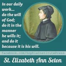 「1975, Elizabeth Ann Seton becomes the first American-born Catholic saint」の画像検索結果