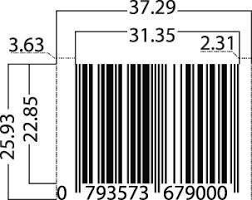 Barcode Mil Size Chart Barcode Standards Barcode Dimensions World Barcodes