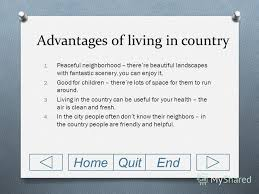Презентация на тему city mouse and country mouse opinion essay  4 disadvantages of living in city
