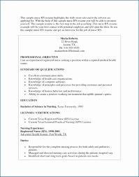 Communication Skills Resume Statement New Nursing Objectives Resumes