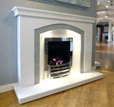 gray electric fireplace dovetail arch white grey marble fireplace with lights for electric plans 8