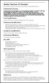 Template Teaching Cv Samples For Teaching Job In Ms Word