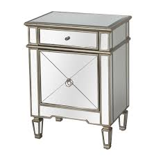 vegas white glass mirrored bedside tables. Vegas White Glass Mirrored Bedside Tables