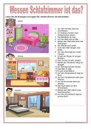 Bildbeschreibung Wessen Schlafzimmer Ist Das Arbeitsblatt