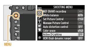 01 to display the s press the on highlight active d lighting in the shooting and press the multi selector right