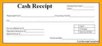 Money Receipt Sample Cash Template Excel Free Format 8