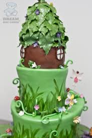 stone steps to the next tier fairy garden cake