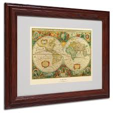 framed world map amazing trademark art old painting graphic reviews along with 15
