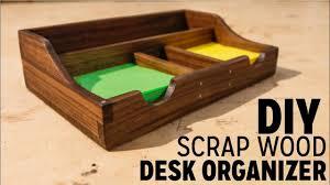diy swood desk organizer