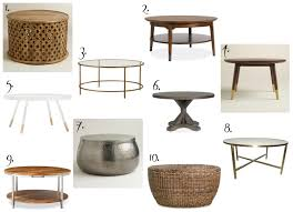 coffee table ten affordable round coffee tables all gorgeous and all under round coffee table