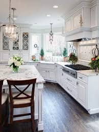 transitional kitchen ideas. White Transitional Kitchen With Marble Countertops | HGTV Ideas E