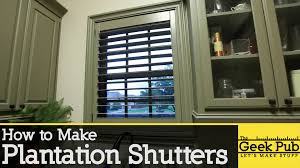 Make Your Own Shutters How To Make Plantation Shutters Youtube
