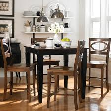 Square Kitchen Table For 4 Awesome 5pc Vernon Square Counter Height Kitchen Table With 4