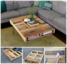 how to make a wood pallet coffee table