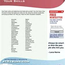 Adjective For Resumes Resume Adjective Words Foodcity Me