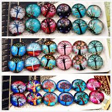 <b>12pcs</b>/<b>lot</b> (<b>One Set</b>) Three Style Fit 12mm Fashion Tree Handmade ...