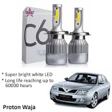 proton waja spotlight c6 led light car auto head light lamp 6500k