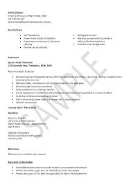 Sample Cleaning Resume Under Fontanacountryinn Com